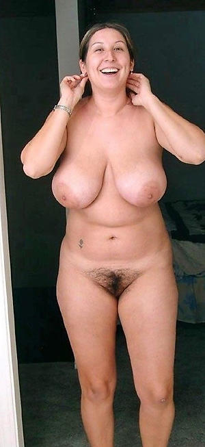 Mature busty female topless