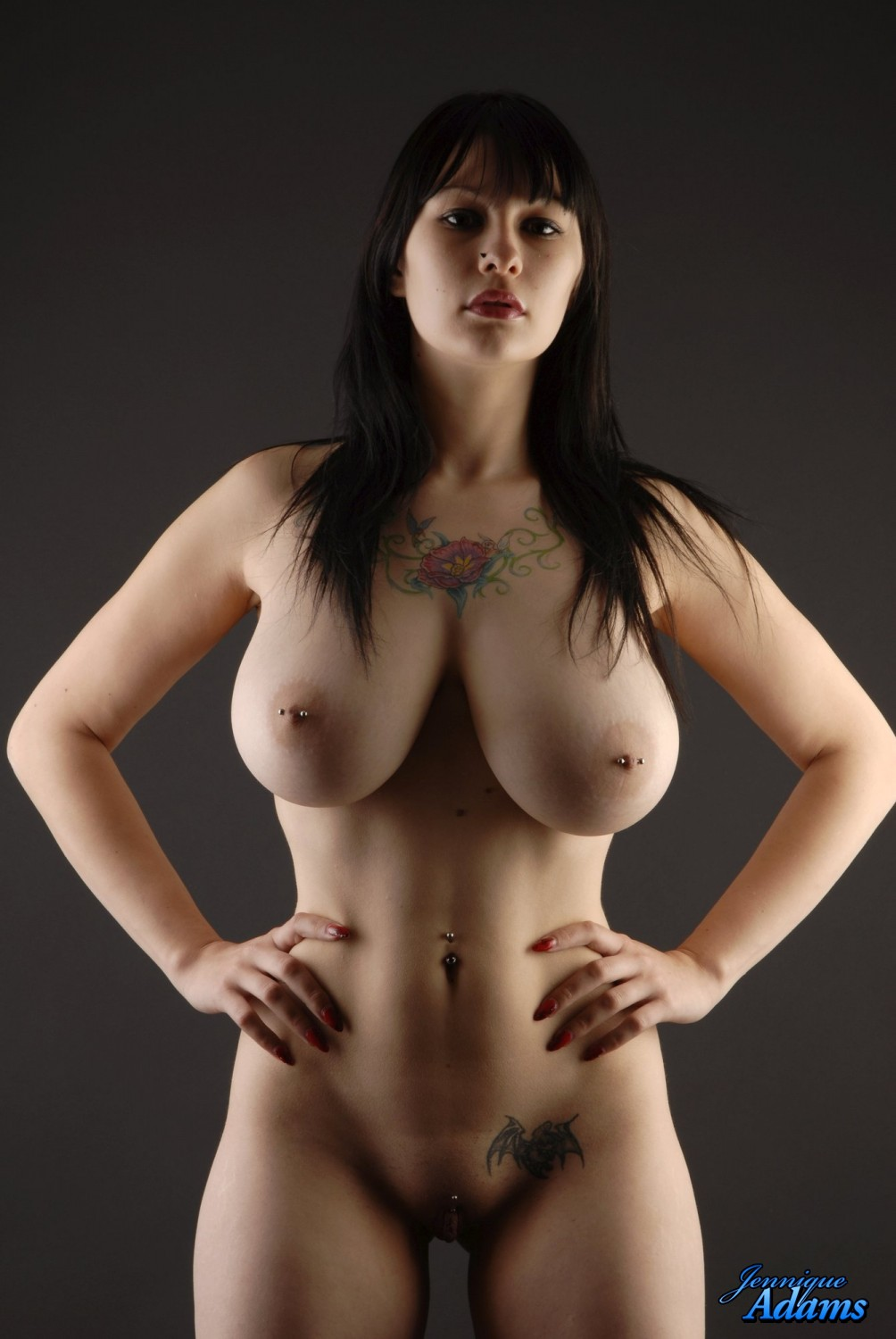 Young full figured nude model